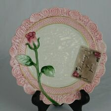 """Fitz & Floyd Vintage Omnibus Victorian """"Thinking of you� Postcard Pink Rose Lace"""