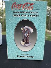 "Limited Edition ""Time for a Coke"" Emmett Kelly Coca Cola Figurine #422"