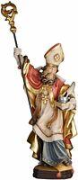 Statue Sant'Alberto Magno avec Stylo et D'Encre - St.Albert The Great Wooden