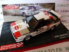 voiture 1/43 IXO Rallye Champions Finlande : AUDI QUATTRO A2 1983 1000 lacs