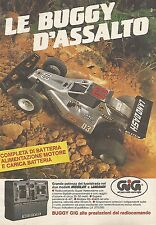 X0482 Le Buggy d'assalto - Gig - Pubblicità 1986 - Vintage advertising