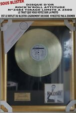 JOHNNY HALLYDAY - DISQUE D'OR - ROCK'N'ROLL ATTITUDE SOUS BLISTER TRÈS RARE