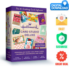 original Hallmark Card Studio 2020 Deluxe Software gift and greeting Cards