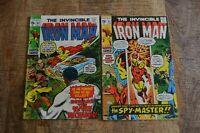 Iron Man #32 33 (Marvel Comics, 1970-1971) Spymaster 1st app Bronze Age Lot of 2