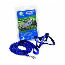 PetSafe COME WITH ME KITTY Cat Harness and Bungee Leash Blue Medium