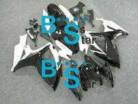 Black White GSXR600 Fairing Fit SUZUKI GSX-R600 GSX-R750 2006-2007 001 A4