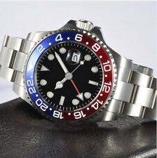 40mm Parnis GMT red blue Bezel Mechanical automatic mens watch Sapphire glass