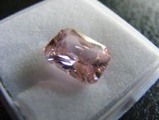Zircon Natural Rosa 5.10 Cts VVS Certificado IGL Gemstone Octagon Cut Thailand