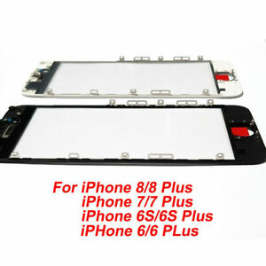 OEM Front Outer Screen Glass Lens + Frame Replacement For iPhone 8 7 6S 6 NO LCD