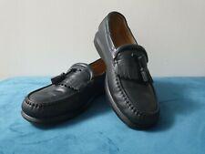 ROCKPORT black leather tassel loafers uk 9