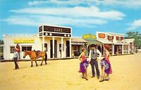 MD Ocean City FRONTIER TOWN Amusement Park Stagecoach CAN CAN GIRLS postcard AM1