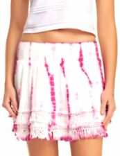 Romeo & Juliet Couture Tie Dye Mini Skirt Fringe Trim Size Medium New With Tags