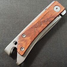 WOOTZ KNIFE KNIVES FRAME LOCK TANTO PLAIN EDGE BLADE FOLDING POCKET USED