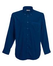Fruit of The Loom Long Sleeve Oxford Shirt-65114 2xl Navy