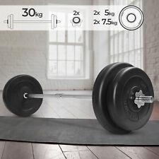 Langhantel Hantelstange Set 30kg Gewichte Hantelscheiben Langhantelstange