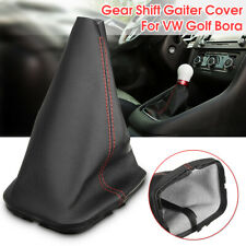 New Black Leather Gear Stick Shift Lever Knob Gaiter Dust Cover For VW Golf Bora