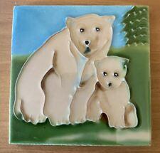 Polar Bear Cub  Decorative Ceramic Wall Art Tile 4x4 New