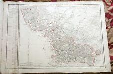 Dépt 59 - Carte Originale de 1790 - Gravure sur Cuivre Aquarellée 79 x 56 cm