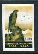 Switzerland Soldier Stamp Flieger Beobachter Aircraft Spotter #3 Soldaten  10
