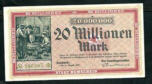 Germany Remscheid 20,000,000 Mark 1923 VF+
