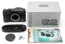 """"""" Unused in Box """" Contax G2 Black 35mm Rangefinder Camera From Japan E324"""