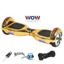 Chrome GOLD hoover board 2 Wheel Electric Scooter Bluetooth Speaker LED Lights