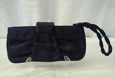 EXPRESS Wristlet Clutch Wallet Black With Wristlet Zipper Top Inner Slit Pocket