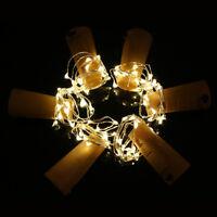 20er LEDs Lichterkette Draht Micro warmweiß, Batteriebetrieb,Weinflasche Licht R