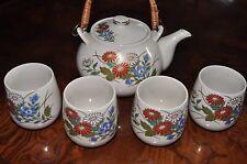 Japan Tea Set  With Floral Pattern Teapot and 4 Teacups