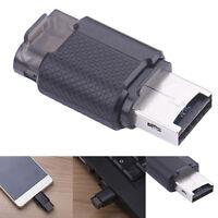 Mini Portable 2-in-1 OTG USB 2.0 Micro TF T-Flash Memory Card Reader Adapter