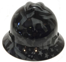 MSA Full Brim VGuard Hard Hat Slate Grey Midnight Flag W  Free BRB TShirt df506955ba64