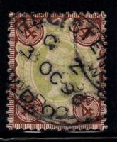Großbritannien 1887 Mi. 91 Gestempelt 100% 4 p, Königin Victoria