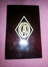 CAO Gold Maduro Corona Gorda Black Wood Cigar Box Empty Momento Keepsake Box