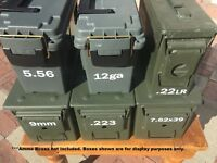 Ammo Can Bullet Vinyl Decal Label Stickers - Various Calibers