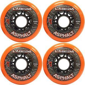 Labeda Gripper Asphalt Inline Hockey Outdoor Rollen 4er Set 71610 diverse Größen