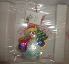 Christopher Radko Chubby Cheer Delight Snowman with Decorative Stand - New Box