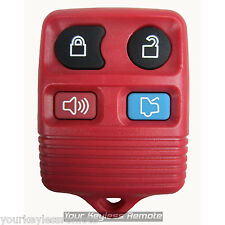 New Red Replacement Remote Key Keyless Transmitter FOB Clicker Beeper Entry