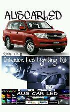 Toyota Landcruiser 200 Series 2007-2011 White LED Interior Light Kit 8pce kit