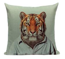 Tiger Animal A4 Cushion Pillow Cover Portrait Zoo Mammal Formal Serious Cute