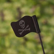 1Pc Black Jolly Roger Pirate Flag Car Antenna Pen Topper Aerial Ball Decor Toy