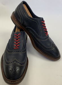 Allen Edmonds Neumok Navy With Red Laces 11EEE Wide EUC Worn Twice
