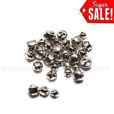 30pcs 8mm-12mm Silver Jingle BELLS - holiday crafts Teeny Little Bells