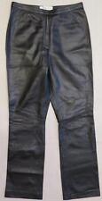 ~ VALERIE STEVENS ~ Women's l/n BLACK Pants ~ 100% GENUINE LEATHER ~ 4 x 31