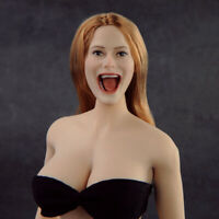 Female Head Sculpt PVC Model Toy 1/6 Singing Girl Open Mouth F PH Action Figure