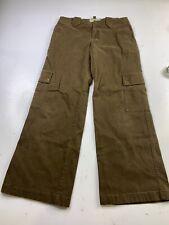 Thomas Burberry Men's BrownCargo Pants Trousers Size US 30
