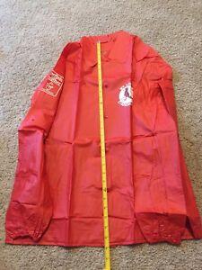 ST LOUIS CARDINALS Vtg Men's Vinyl Large Jacket Red Snap Stadium Giveaway