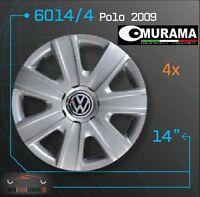 4 ORIGINAL Murama 6014/4 enjoliveurs pour 14 pouces JANTES VW POLO 2009 GRIS