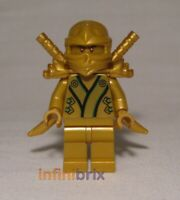 Lego Lloyd Golden Ninja Minifigure CUSTOM for Ninjago NEW cus342