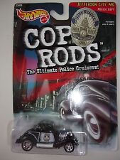 Hot Wheels Cop Rods 3 Window '34 Jefferson City Mo Police Dept Car 1999 Nip
