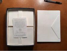 Crane & Co 20 Ruled Half Sheets Pearl White Kid Finish